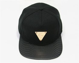 Wholesale Hater Leather Snapback - Wholesale-High quality brand leather hater snapback caps hip hop black star cap classic sports baseball cap hats for men women hat