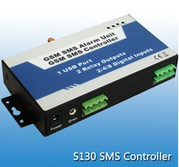 Wholesale Wireless Gsm Text - S130 GSM Remote controller Wireless controller by GSM Quad-band Network Turn Relay ON OFF by Mobile Phone SMS Text Command