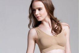 Wholesale Cotton Genie Bras - Hot Genie Bra Seamless Sports Bra Vest Sleeping Yoga Bras Underwear 100% Cotton Push UP Underwire Lingerie