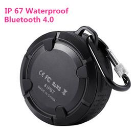 Wholesale Ip67 Waterproof Mobile Phone - Waterproof IP67 Portable Outdoor Speakers Sport Riding Bluetooth 4.0 Wireless NFC Mini Sound Box Good Quality