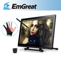 "Wholesale Gloves Drawing - Wholesale-UGEE UG-2150 UG2150 Digital Graphic Drawing Tablet Rechargeable Pen 21.5"" Inches IPS Monitor 1920x1080 HD Display + Glove"