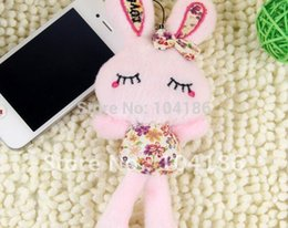 Wholesale Metoo Phone - Wholesale-20PCS Plush Stuffed TOY LONG Size Plush Metoo Love Rabbit DOLL TOY Phone Charm Strap Pendant ; Wedding Bouquet DOLL TOY Gift