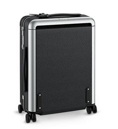 Wholesale Suitcase Rolling Luggage - Men Real Taiiga Calf Leather Rolling Luggage Black