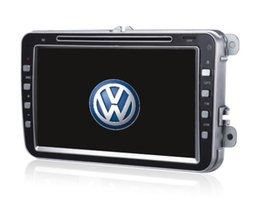 Wholesale Dvd For Vw Golf - 8 Double din touch screen car dvd player for vw touran passat golf polo gps car radio