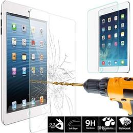 Protección de pantalla de cristal premium online-Protector de película de protección de pantalla de cristal templado premium para iPad de Apple 2 3 4 5 6 Air Mini