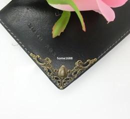 Wholesale Corner Photo - Free Shipping-Wholesale Photo Album Angle Pressure Angle Corner Protector Protects Bronze Color Metal Bag Edge Angle 4.1cm D2350