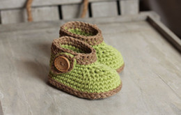 Wholesale Knitted Shoes For Toddlers - cotton yarn toddler booties,Crochet snow shoes,knitted baby shoes,Beautiful baby crochet sandals, perfect as a gift for newborn, baby shower