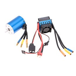 Wholesale electric rc car brushless - 3650 3100KV 4P Sensorless Brushless Motor with 60A Brushless ESC(Electric Speed Controller)for 1 10 RC Car Truck order<$18no track
