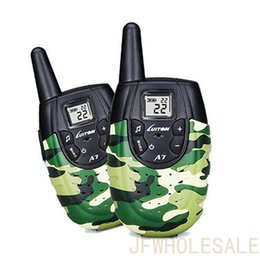 Wholesale Two Way Radios For Kids - Walkie Talkies For Kids Toys For Boys And Girls Top Rated Birthday Gifts Outdoor Toys With Rechargeable Battery Luiton A7(Camo 1 Pair)