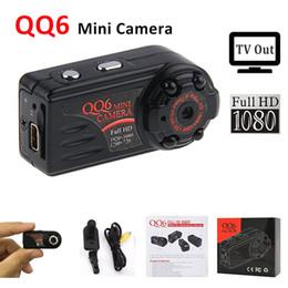 Wholesale 12m Camera - Full HD 1080P 720P Mini Camera QQ6 IR Night Vision Mini DV Camera Thumb Motion Sensor Small Video Kamera 12M DVR Camcorder