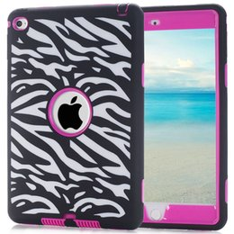 Wholesale Ipad Mini Case Zebra - For Ipad Mini 4 mini4 7.9'' Tablet Hybrid Elephant Mandala Henna Silicone gel PC Hard Case Robot Shockproof Zebra Wave Cover Heavy Duty Skin