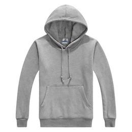 Wholesale Plain White Suit - Wholesale-2015 Hot Sale 100% Cotton With Short Villi Inside Men's Blank Plain Hoodies High Quality 9 colors Men Sports Suit