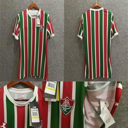 Wholesale H Shirts - Free shipping Top Thai quality 17 18 Fluminense home soccer jerseys SORNOZA H. DOURADO top quality football shirts