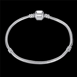 Wholesale Global Day - 925 sterling silver snake chain charm bracelet fashion jewelry Christmas gift global hot new design factory price free shipping
