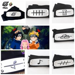 Wholesale Konoha Cosplay Naruto - ANIME Naruto Headband Konoha Kakashi Akatsuki Members Cosplay Costume Accessories Naruto Forehead Fashionable Headband 23 design KKA3401