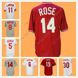 Wholesale Roses Man - Cincinnati Jerseys Johnny Bench Billy Hamilton Joe Morgan Barry Larkin Dave Concepcion Pete Rose Joey Votto Tony Perez Jersey Flexbase