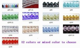 Wholesale 6mm Round Glass Beads Wholesale - OMH wholesale 200pcs 13colors or mixed red color to choose 6mm rondelle round glass crystal beads rondelle spacer beads Sj95