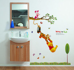 Childrenu0027s Cartoon Winnie The Pooh Removable Wall Decor Decal Stickers Part 52