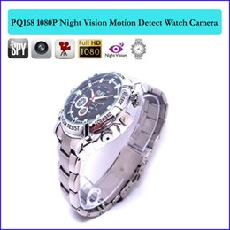 Wholesale Spy Watch Infrared - 32GB memory HD Infrared night-vision waterproof hidden camera watch 1080P Full HD Watch DVR spy camera Separate voice recording Cam PQ168