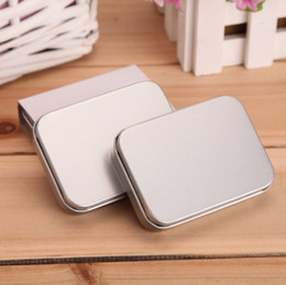 Wholesale Wholesale Lighter Cases - Silver Metal Tin Box Gift Box For Cigarette Lighter Collectable Case Holder For Cigarette Storage Tools