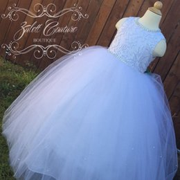 Wholesale Tea Length Wedding Dres - Flower Girl Dress - Big Bow Dress -Wedding Dres- Ice Princess Froze The WW Ellie Dress by zulettcouture