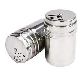 Wholesale shaker pepper - 200pcs llot Seasoning bottle stainless steel rotary multifunctional condiment bottles