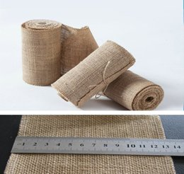 Wholesale Wholesale Webbing Rolls - 2015 DIY home decor Burlap Ribbon burlap decorative flowers&wreaths jute wedding ribbon jute webbing roll (120MM Width X1000MM)
