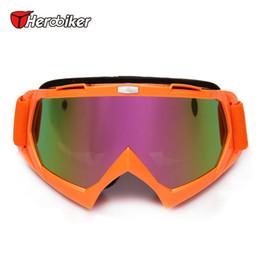 Wholesale Enduro Dirt Bike - Wholesale-HEROBIKER Ski Snowboard Skate Glasses Motorcycle Riding Goggles Motocross Off-Road Dirt Bike Downhill Enduro Dustproof Eyewear