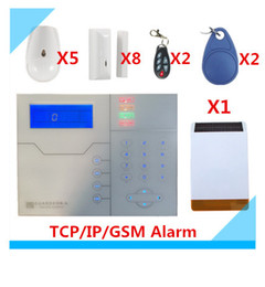 Wholesale Outdoor Security Strobe - 2017 Free shipping Web IE Control ST-VGT TCP IP GSM Alarm System Home Security Alarm with Outdoor Solar Strobe Siren