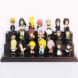 Wholesale Wholesale Collectable Dolls - Naruto 5cm 21pcs set PVC Collectable Figure Model Toys Doll Gifts for kids Children's Gift Sets
