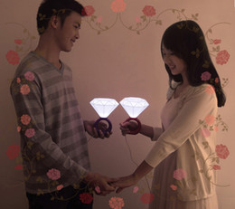 rgb led lights vase base Desconto Casais românticos LED luz do anel Nightlight, idéias do presente do Dia dos Namorados luzes de diamante, USB \ lâmpada com adaptador de energia