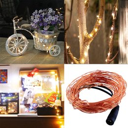 Wholesale Wholesale Led Decorative Light - Copper Wire 5M 16.4Ft 50LEDs Starry Decorative String Light 12V DC lamp for Christmas Halloween Wedding Holiday