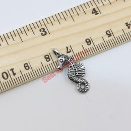 Wholesale Wholesale Seahorse Charm - Tibetan Silver Plated Seahorse Charm Pendants for Jewelry Making Floating Charms Locket Handmade Jewelry DIY Accessories 24x11mm