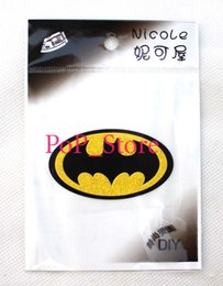 Wholesale Vinyl Clothing - Wholesale & Retail Hot new Cartoon Batman kid's T shirt's DIY the iron on Patches iron Stickers on Transfers for clothing Party gift