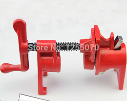Wholesale Heavy Clamp - High Quality Heavy Duty Pipe Clamp Woodworking Rocker Type 1 2 Inch Pipe Clamp Fixture Carpenter Woodworking Tools Free Shipping order<$18no