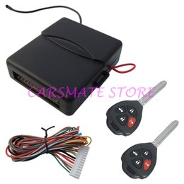 Wholesale Remote Unlock - In Stock Car Keyless Entry System Remote Control With Blank Key Four Buttons Remote Lock And Unlock Remote Trunk Release!