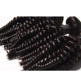 Cheveux funèbres vierges 8a en Ligne-Elibess-- Virgin Hair 3 Bundles Tatie Funmi Curl 8A Brésil 100% non transformés Human Hair Weave Weaves Fumi Extensions Bouncy Free Curl navire