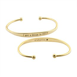 Wholesale Hat Chain For Women - GORGEOUS TALE I got a dream in 2017 charm bracelets & bangles for women fine jewelry graduation hat men bracelet christmas gift