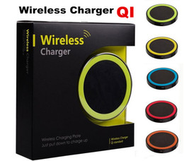 Wholesale Wholesale Cellphone Pad - 30pcs S6 Qi Wireless Charger Cell phone Mini Charge Pad For Qi-abled device Samsung nokia htc LG cellphone with retail package JE13