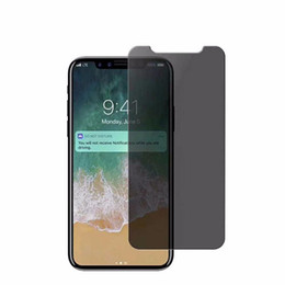 Wholesale Screen Protectors Privacy - For Iphone X 8 Privacy Screen Protector Shield Anti-Spy Real Tempered Glass For Iphone 6 6S 7 Plus Samsung Galaxy S7 S6 S5