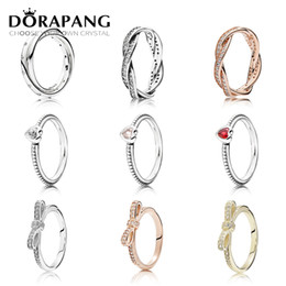Wholesale Factory Stone - DORAPANG 925 Sterling Silver & 14K Gold Color Rings For Women Rose Gold Drops Of Fashion DIY Pan Ring Factory Wholesale