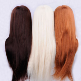 Wholesale Mannequin For Wigs - 2017 New 25 inch Hair Styling Mannequin Head White Hair Hairstyle For Hairdresser Dummy Hair Mannequins For Sale Training Head