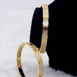 Wholesale H Cuff Bracelet - High quality full with CZ diamond Brand Love Screw H Bracelet Women cuff cater love bracelets Pulseira Feminina Masculin with original bag