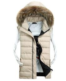 Wholesale Down Vest Fur Collar - Fall-Fur collar autumn winter vest waistcoat down jacket winter vest sleeveless jacket for men&women fashion outdoor chaleco hombre