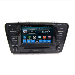 Wholesale Skoda Din Android - Car DVD Multimedia Player Android 4.4 Entertainment System Built in Wifi Steering Wheel Control Skoda Octavia 2014 A7 8093A