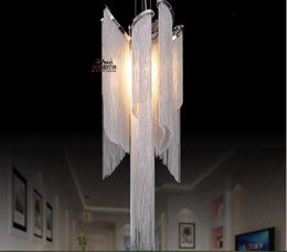 Wholesale Empire Lamps - Newly D360mm H1000mm French Empire Chain Chandelier Light Fixture Long Chain Hanging Suspension Lustre Lamp Chain Light