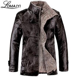 Wholesale warmest leather jacket men - Wholesale- LOMAIYI NEW Plus Size M-8XL Men's Winter Leather Jacket Men Warm Thick Faux Fur Coat Mens Black Motorcycle PU Windbreaker,BM057