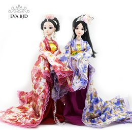 Wholesale Pvc Toys China - 1 6 Chinese Ancient Princess Bjd Doll With Patterned Skirt For Mini Baby Doll Toy Classic Dress Miniature Doll