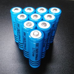 Wholesale Li Ion Battery For Flashlight - High Quality Rechargeable 18650 Battery 3000mAh 3.7v BRC Li-ion Battery for Flashlight Torch Laser