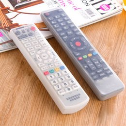 tv remote holders Promo Codes - Wholesale-Storage Bags TV Remote Control Dust Cover Protective Holder Organizer Home Item